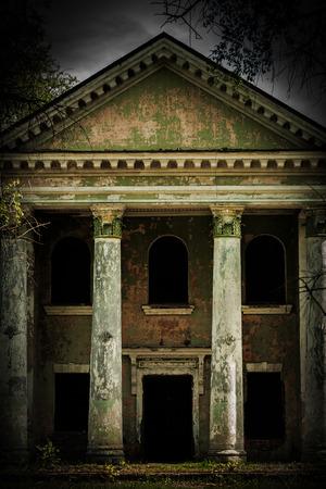 old vintage damaged grunge building insagram sttile photo