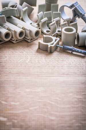 copyspace: Organized Copyspace Big Composition Polypropylene Fixators Stock Photo
