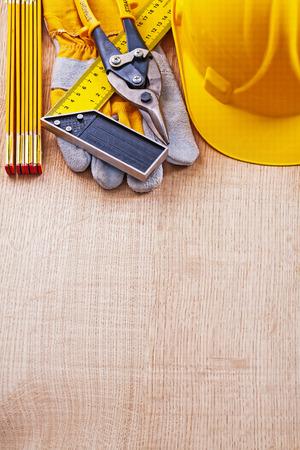 square ruler: Building helmet protective glove square ruler wooden meter nippe