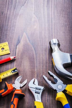 outils construction: copyspace organis�e avec des outils de construction crayon de la r�gle tapelin