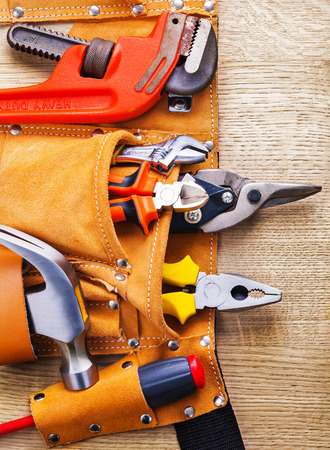 toolbelt: toolbelt with construction toolshammer screwdriver nippers plier
