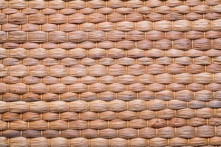bast: natural bast wickered texture of mat