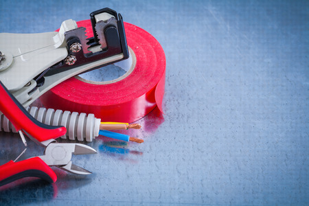peeling rubber: Composition of Insulating tape, wire protection cables and sharp nippers strippers.