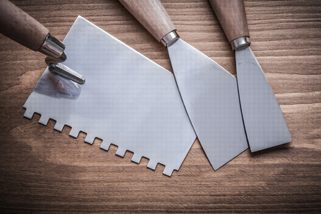 scrapers: putty knife and paint scrapers. Stock Photo