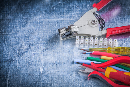 dielectric: Wire strippers protection insulated screwdrivers block clamp nippers.