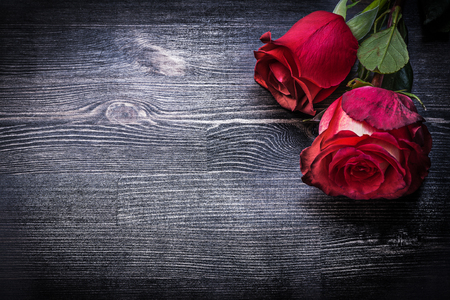 expanded: Expanded natural aromatic rosebuds on wooden background holidays concept. Stock Photo