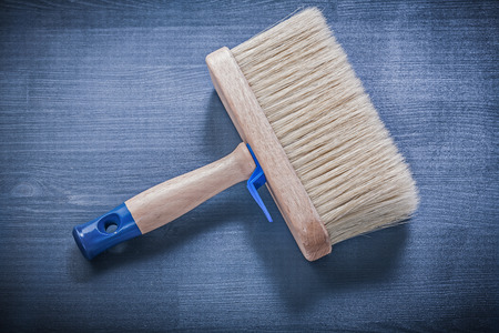 bristle: Wood board with paintbrush thick bristle construction concept.