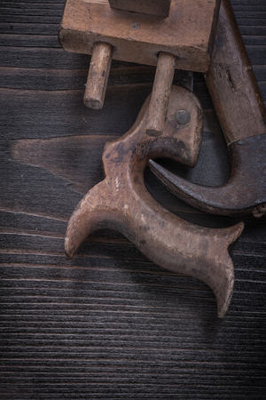 claw hammer: Set of messy hand saw vintage surface gauge claw hammer.