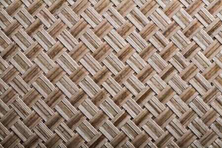 crisscross: Woven crisscross place mat close up view. Stock Photo