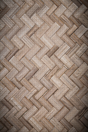 matting: Woven rowing wooden matting top view. Stock Photo