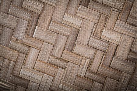 matting: Woven crisscross wooden matting top view. Stock Photo