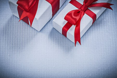 wrapped gift: Wrapped gift boxes on white background holidays concept.