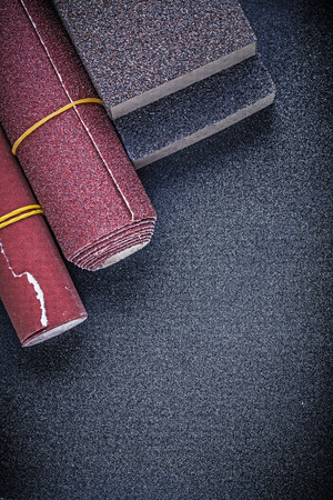 emery paper: Composition of sanding sponges glass- paper abrasive materials.