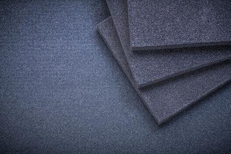 emery paper: Sanding sponges on emery paper abrasive tools.