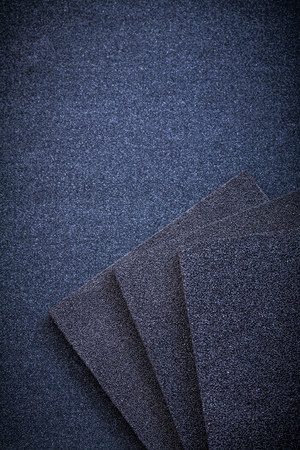 emery paper: Sanding sponges on glass-paper abrasive materials.