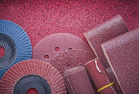 emery paper: Set of abrasive equipment on polishing paper sheet.