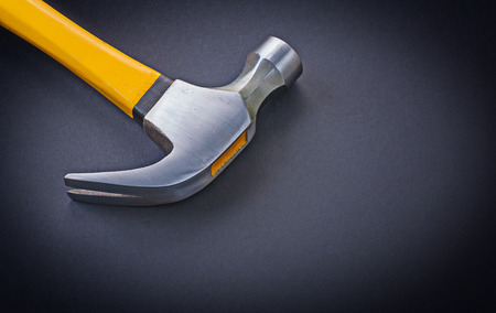 close up view: close up view on claw hammer.
