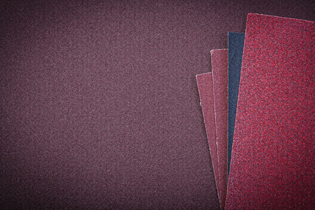 abrasion: Emery paper on polishing sheet copy space abrasive materials. Stock Photo