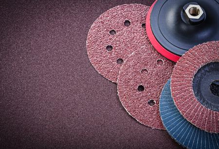 emery paper: Sanding discs holder on polishing sheet abrasive materials.