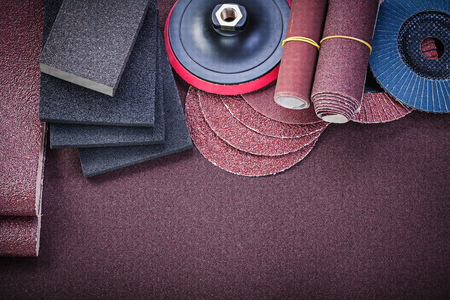 emery paper: Composition of abrasive tools on sandpaper directly above.