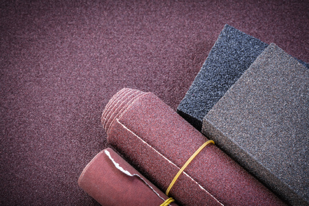 emery paper: Sandpaper rolls sanding sponges on polishing sheet abrasive tools.