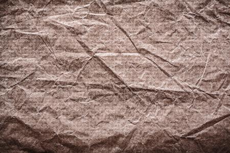 messy: Vintage messy crumpled paper horizontal version. Stock Photo
