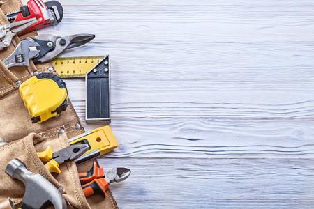 建設板コピー スペース メンテナンス コンセプトに革 toolbelt のツーリングします。