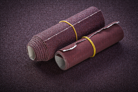emery paper: Rolled emery paper top view abrasive tools.