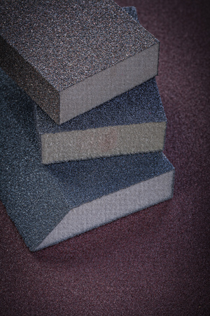 abrasive: Sanding sponges on polishing sheet abrasive equipment.