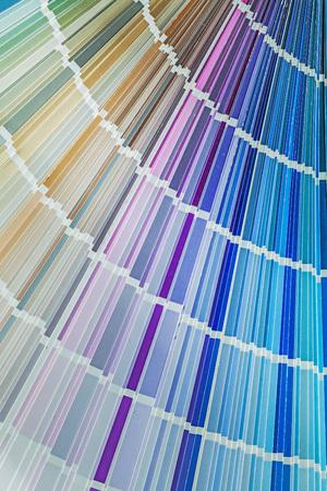 Variation of colors in pantone fan.
