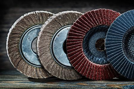 abrasive polishing discs set Banque d'images