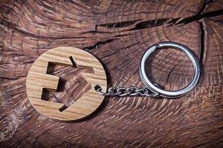 trinket house without  keys on wood background Banco de Imagens - 124977479