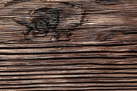 Obsolete brown natural wooden surface.