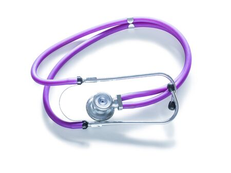 medical tool stethoscope isolated on white background