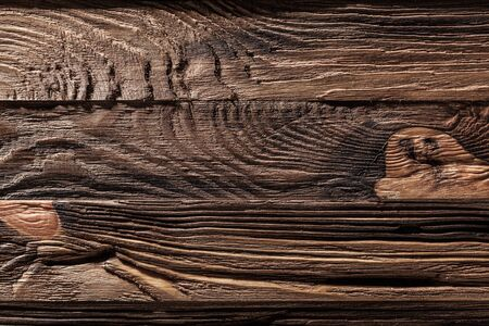 vintage wood texture with horizontal oriented planks 写真素材 - 141683375