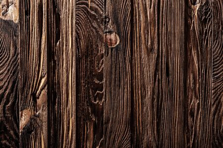 vintage wood texture with vertical oriented wooden boards 写真素材