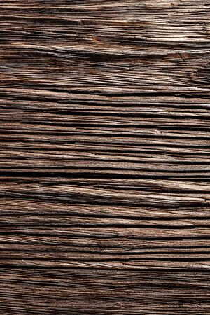 Grunge brown natural wooden board. 免版税图像