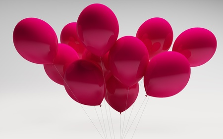 red shiny glossy ballons