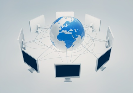 Web internet connects people around the world Stock Photo - 11308959