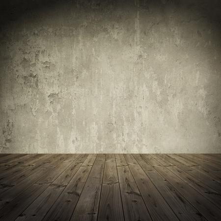 terreno: Grunge muro, vintage invecchiato vecchio sfondo interni tinto 1