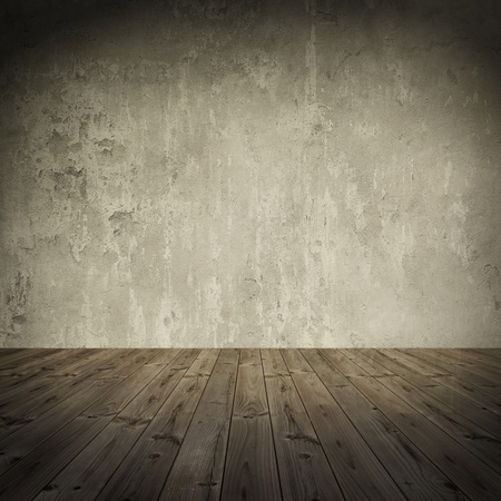 the ground:  Grunge wall, vintage aged old interior stained background 1