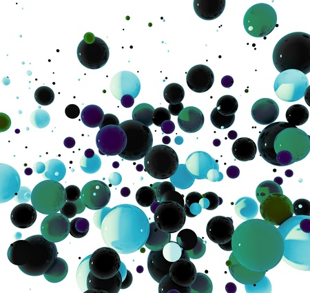 3d Abstract futuristic background, colored balls explosion wallpaper Stock Photo - 16829292