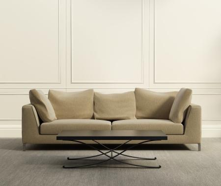 3D豪華典雅的客房配有灰色的地毯生活 版權商用圖片