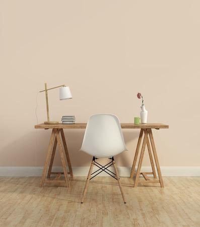 muro: Home office contemporanea