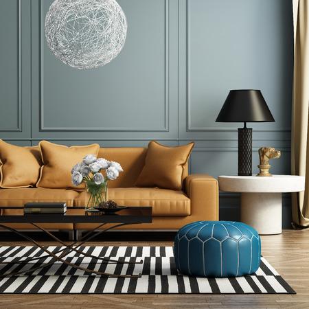 int�rieur de maison: Contemporain �l�gant salon de luxe Banque d'images