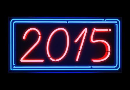 Happy new year neon 2015