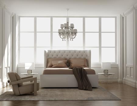 シックな古典的なエレガントな豪華なベッドルーム 写真素材