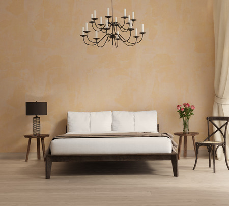 light interior: Provence style bedroom a romantic interior