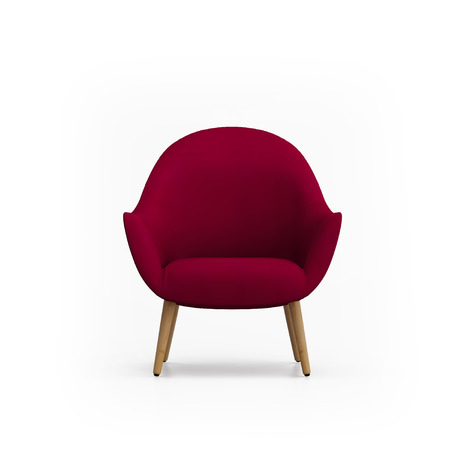 red chair: Isolated red armchair