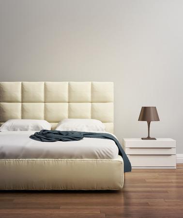 atmosfera: Dormitorio de lujo contemporáneo del hotel del ante de la vainilla del beige